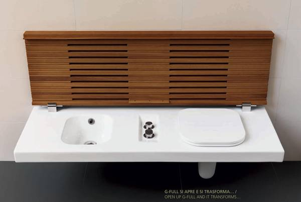 wc bidet kombination in einem st ck mit sitzbank unsichtbares wc mit. Black Bedroom Furniture Sets. Home Design Ideas